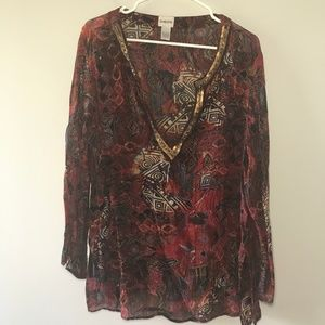 Chico's Sheer Tunic Plus Size 16